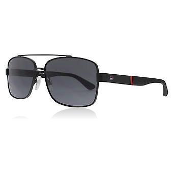 Tommy Hilfiger TH1521/S 003 Matte Black TH1521/S Rectangle Sunglasses Lens Category 3 Size 59mm