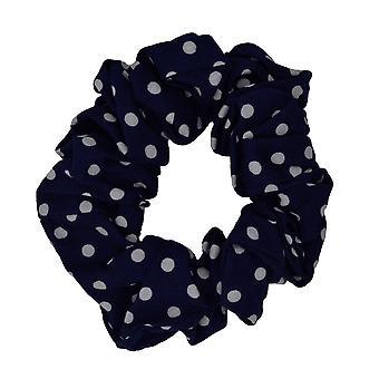 Blue Polka Dot Scrunchie