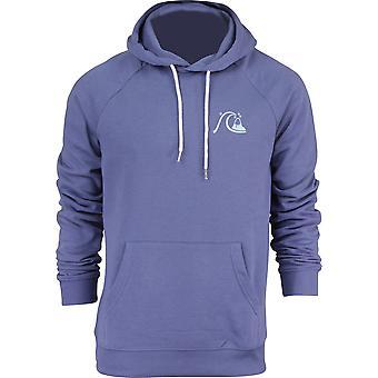 Quiksilver Mens B Logo Fleece Pullover Hoodie - Bijou Blue