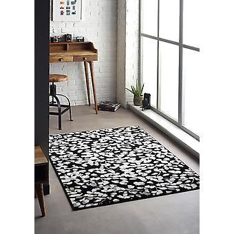 Flora Schwarz Rechteck Teppiche moderne Teppiche