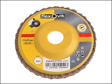 Flexovit Flap Discs For Angle Grinders 125mm 40g (1)