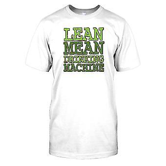 Lean bedeutet trinken Maschine - lustiges Zitat-Herren-T-Shirt