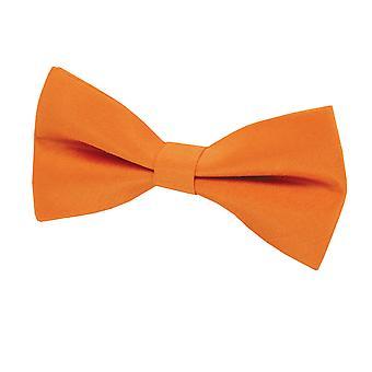 Dobell Mens Orange Bow Tie Dupion Satin-Feel Pre-Tied