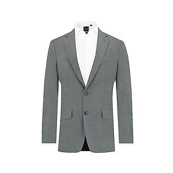 Dobell Mens Licht grau 2 Stück Anzug Slim Fit Kerbe Revers