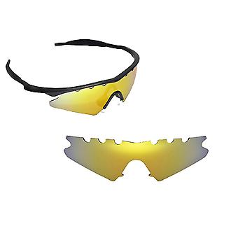 VENTED M Frame Sweep Replacement Lenses Polarized Gold by SEEK fits OAKLEY