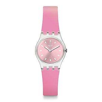 Swatch Lk380 Sonnenaufgang rosa silikon klocka