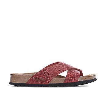 Womens Papillio Daytona Leather Sandals – Narrow Width In Royal Python Red