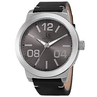 Joshua & Sons Men's JX103SS Classic Quartz Movement Genuine Leather Strap Watch