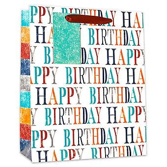 Simon Elvin Colour Font Happy Birthday Gift Bags (Pack Of 6)
