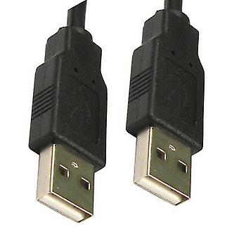 3m Black USB Cable A Male To A Male Plug Shielded High Speed 2.0 28awg CabledUp