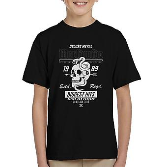 Divide & Conquer Worldwide Metal Skull Snake Kid's T-Shirt