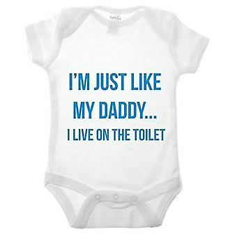 Just like daddy babygrow