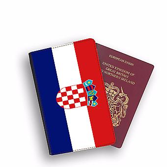 CROATIA Flag Passport Holder Style Case Cover Protective Wallet Flags design