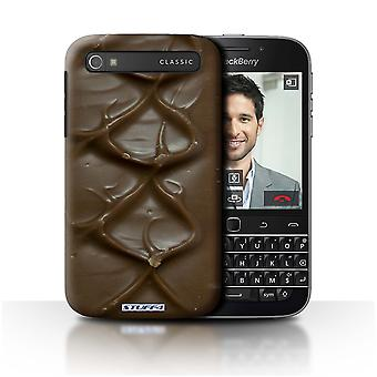 STUFF4 Case/Cover for Blackberry Classic/Q20/Bar/Ripple/Chocolate