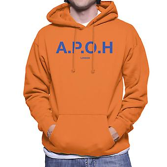A.P.O.H Classic Cobalt Logo Men's Hooded Sweatshirt