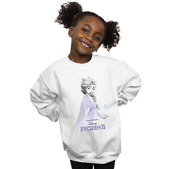 Disney Girls Frozen 2 Elsa Unity Snowflake Sweatshirt