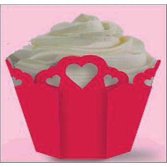 Baking Cups Pleated Eyelet with Hearts 15 Pkg Standard W4151488