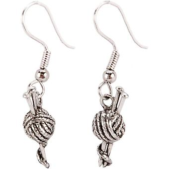 Charming Accents French Wire Earrings Knitting Needles Fwe22 180