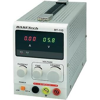Bench PSU (adjustable voltage) Basetech BT-153 0 - 15 Vdc 0 - 3 A 45 W No. of outputs 1 x