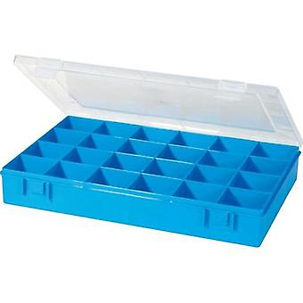 Assortment box (L x W x H) 335 x 225 x 55 mm Alutec No. of compartments: 24 fixed compartments