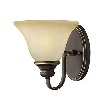 Cello Traditional Wall light with Vintage Faux Alabaster Glass Shade
