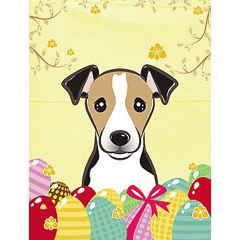 Jack Russell Terrier Easter Egg Hunt Flag Canvas House Size BB1943CHF