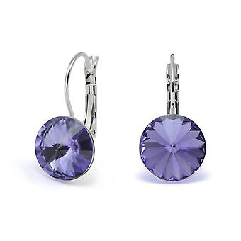 Crystal earrings Tanzanite EMB 1.11