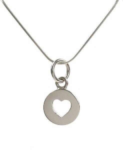Cavendish French Sterling Silver Closed Heart Pendant without Chain