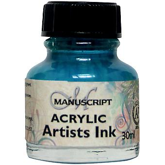 Manuscript Acrylic Artists Ink 30ml-Turquoise MDP0-45