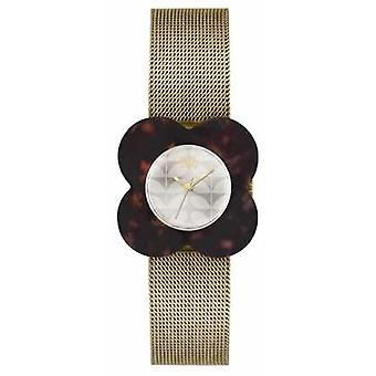 Orla Kiely Womens Poppy Gold Plated Dark Case OK4030 Watch
