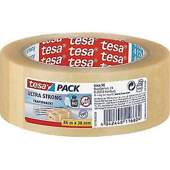 Packaging tape TESA Tesapack® Ultra Strong Transparent (L x W) 66 m x 38 mm Content: 1 Rolls