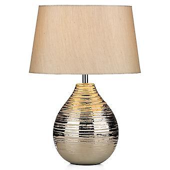 Dar Gustav GUS4032 Table Lamp Single Fabric Shade Inc