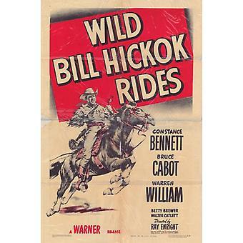 Wild Bill Hickok rijdt Movie Poster Print (27 x 40)