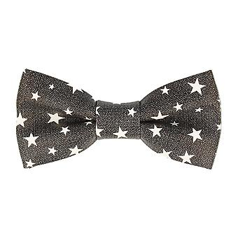 Pop art of ties fly tied bow tie faux leather of stars star dark grey