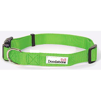 Doodlebone Bold Nylon Collar Green Medium