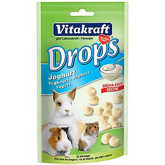 Vitakraft Small Animal Sugar Free Yoghurt Drops 75g (Pack of 9)