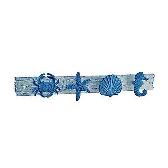 Blue and White Sea Life Decorative Wall Hook