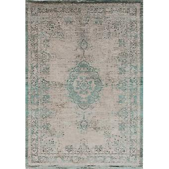 Distressed Jade Oyster Cotton Medallion Rug - Louis De Poortere 170x240