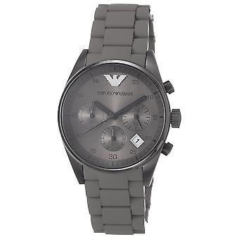 Emporio Armani AR5951 Grey Sports Silicone Quartz Chronograph Ladies Watch