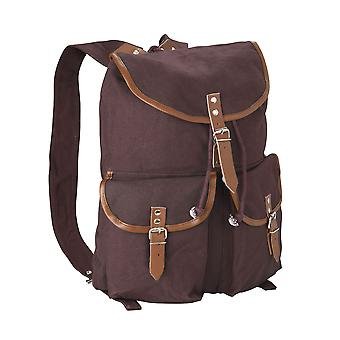 Canvas Backpack Rucksack Daypack Leather Straps