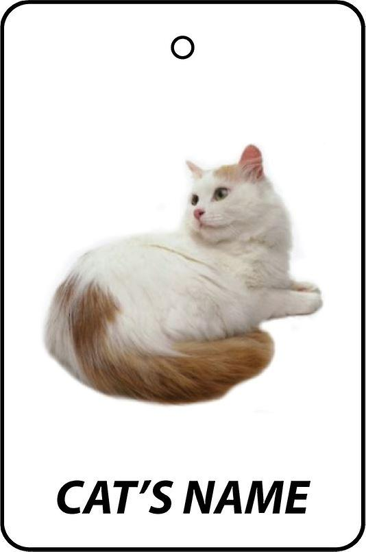 Personalised Turkish Van Cat Car Air Freshener