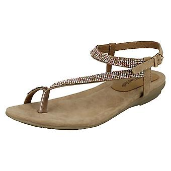 Womens Leather Collection Y Strap Toe Loop Sandals