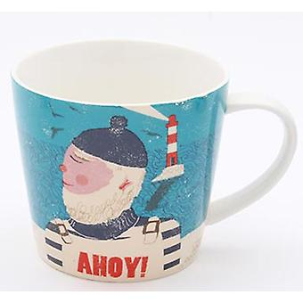 Jill White Rocket 68 Single Ahoy Fisherman Mug