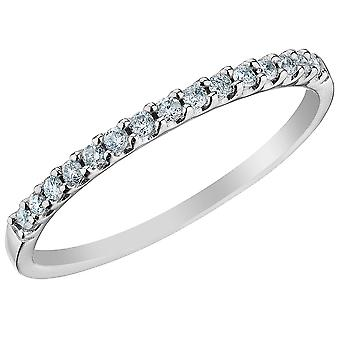 Diamond Wedding Band 1/7 Carat (ctw) in 14K White Gold