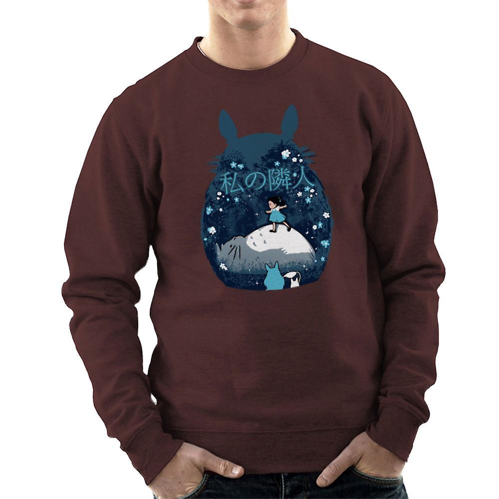 Mein Nachbar Totoro Nacht Montage Herren Sweatshirt Fruugo