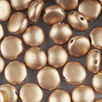 Preciosa Preciosa Candy Beads 8mm - Matte Metallic Gold - 25 Beads