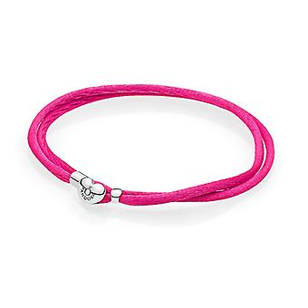 Pandora Moments Fabric Cord Bracelet - Hot Pink - 590749CPH-S2