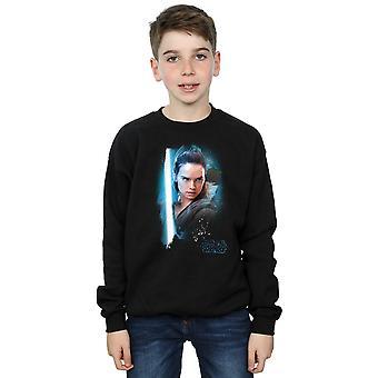 Star Wars Boys The Last Jedi Rey Brushed Sweatshirt