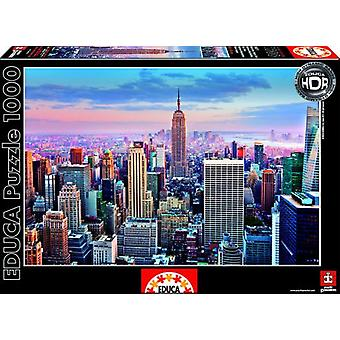 Educa Manhattan Puzzle, New York 1000 Pieces HDR (Toys , Boardgames , Puzzles)