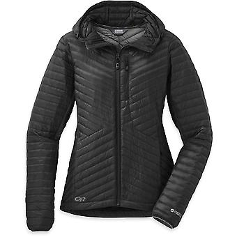 Outdoor Research Womens Verismo Hooded Down Jacket Black (UK Size 12)